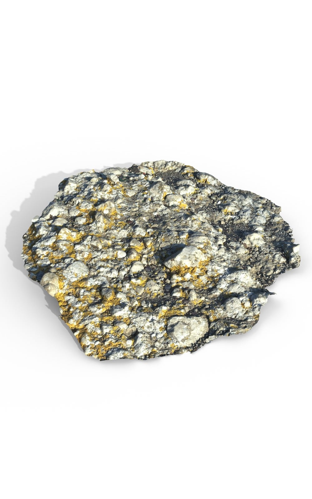 Natural Ground Rock Premium 3D Model - image 1