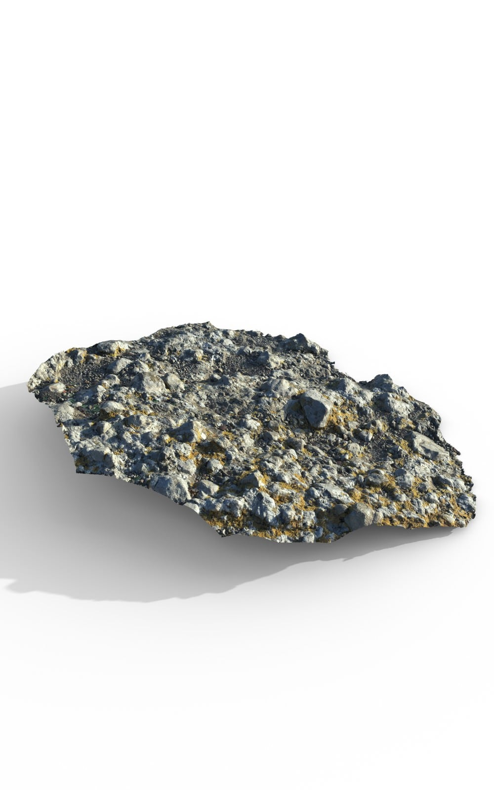 Natural Ground Rock Premium 3D Model - image 2