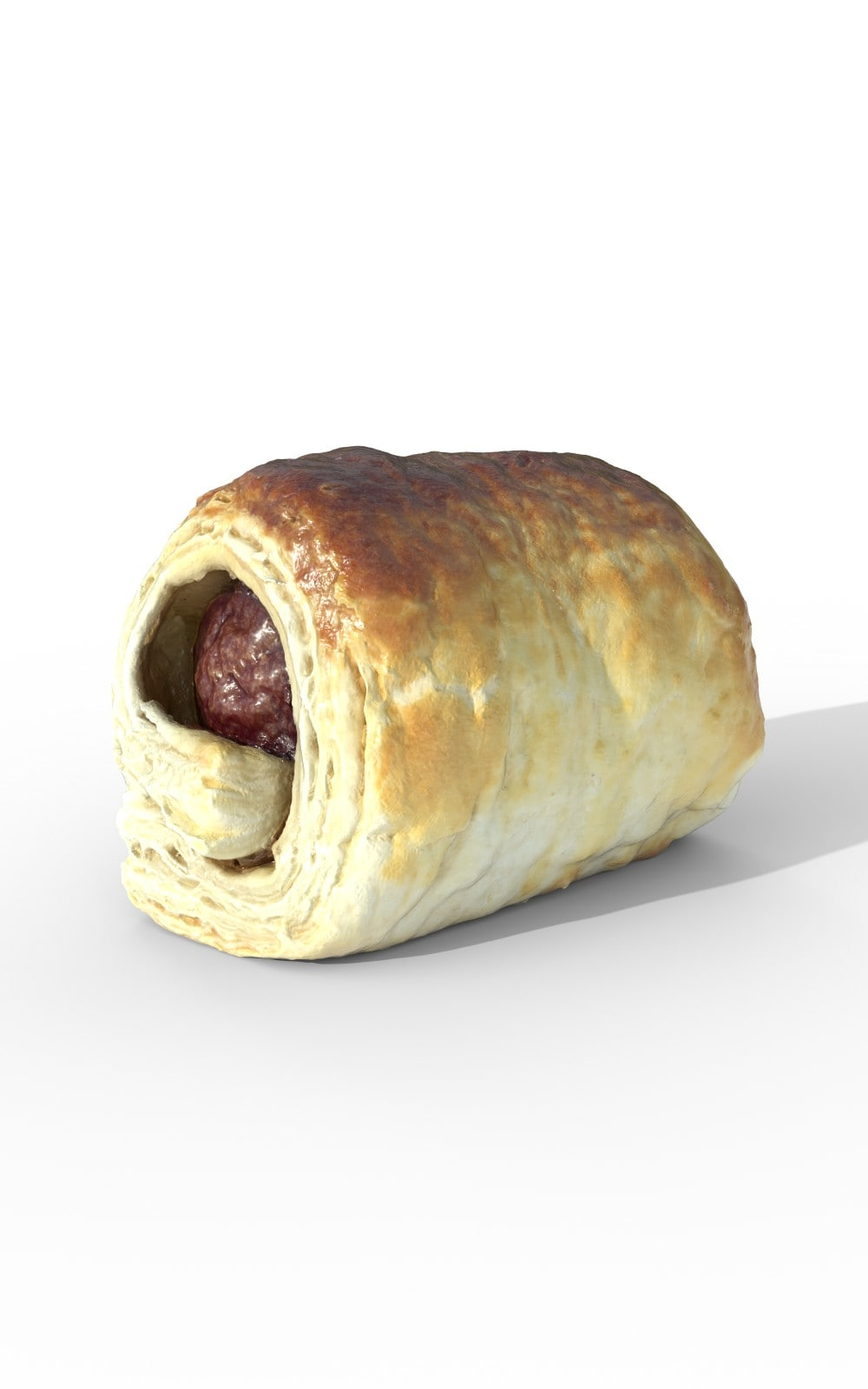 Sausage Puff Pastry Meal Premium 3D Model - image 1