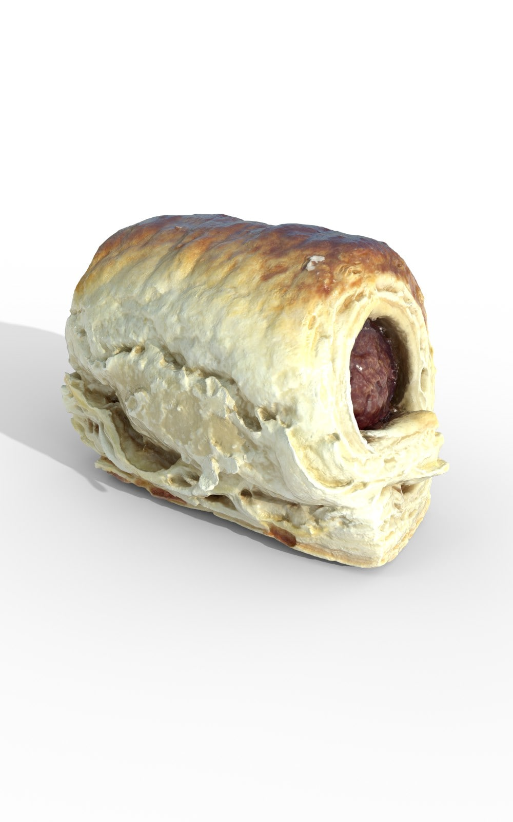 Sausage Puff Pastry Meal Premium 3D Model - image 2