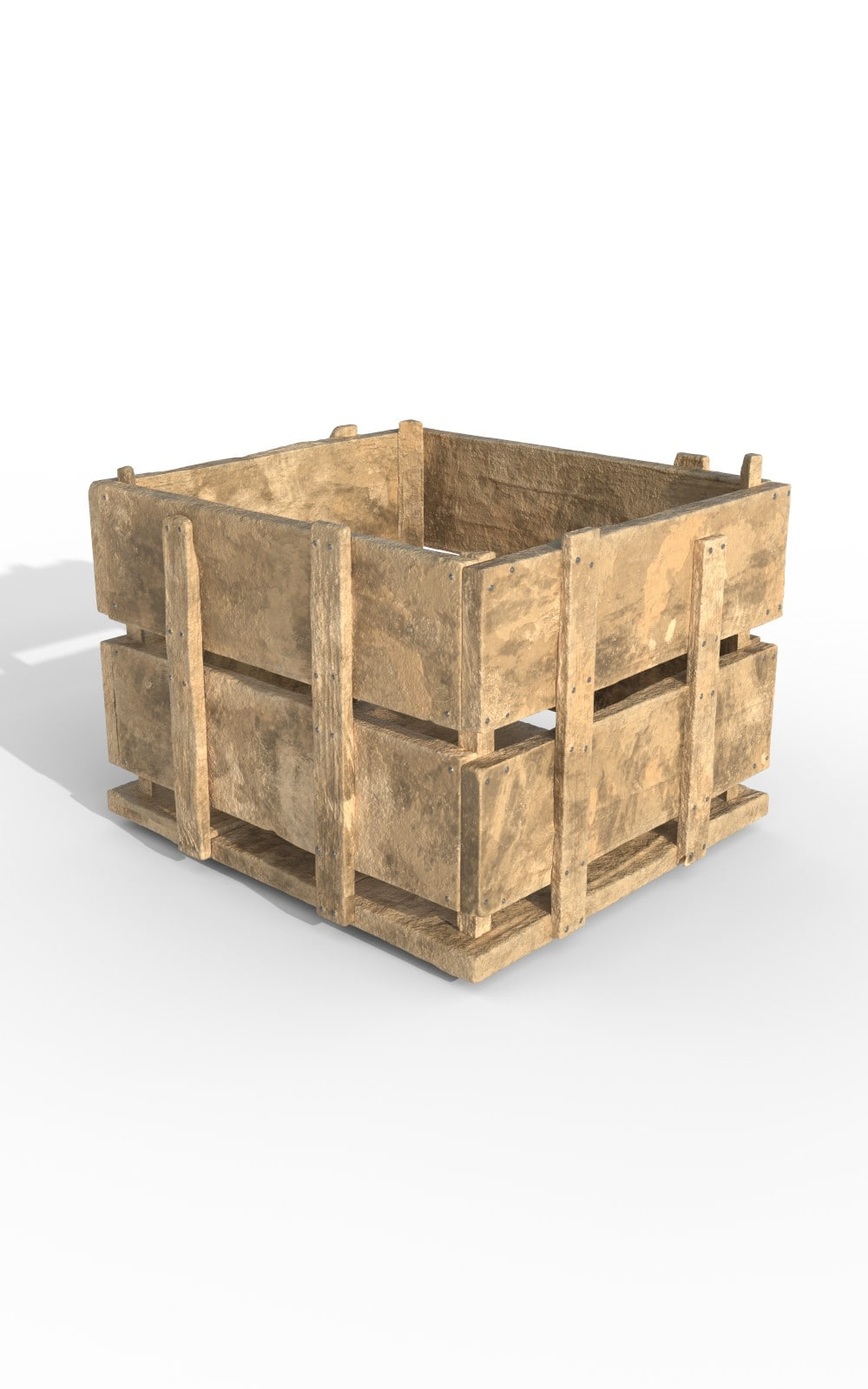 Wooden Case Storage Premium 3D Model - image 1
