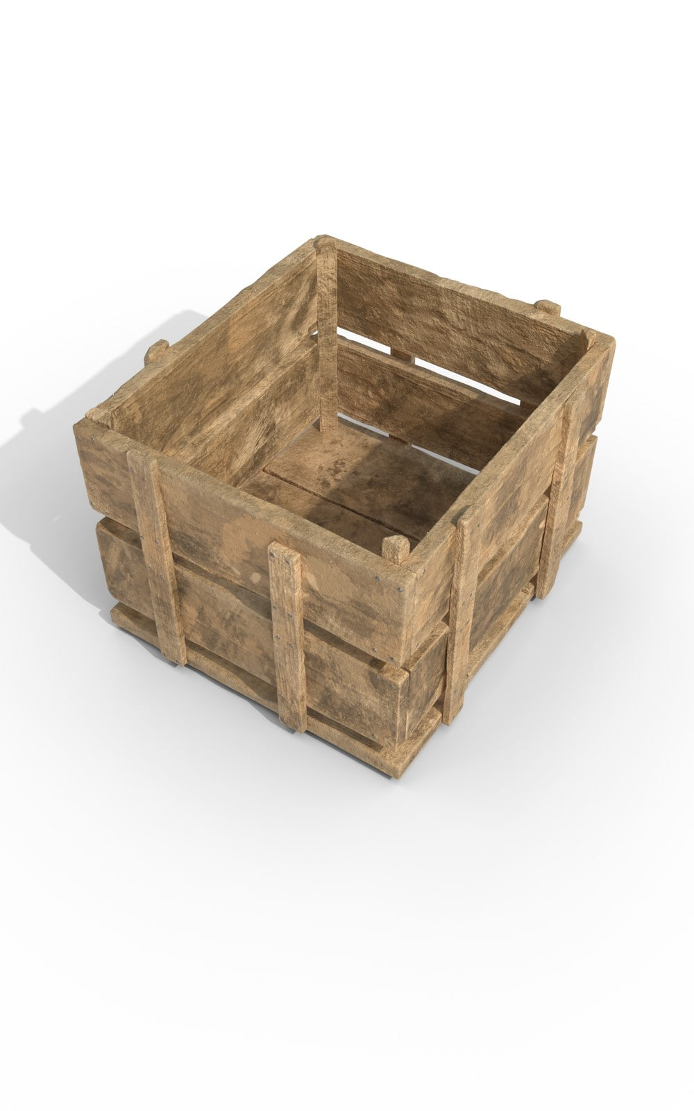 Wooden Case Storage Premium 3D Model - image 2