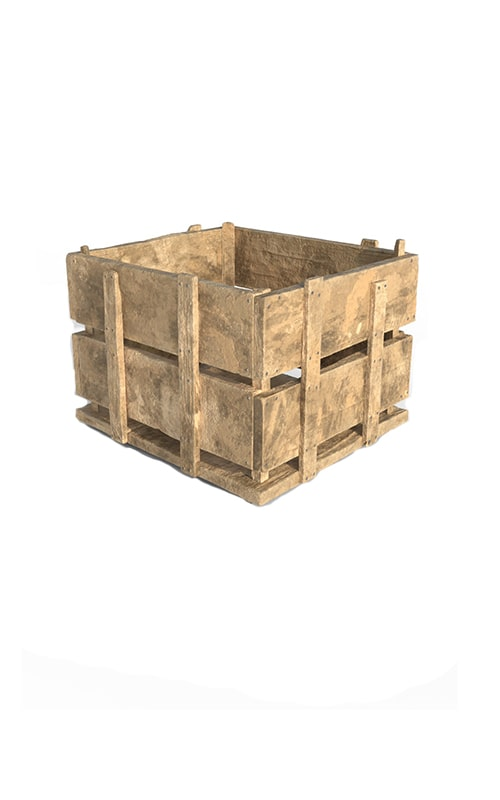 Wooden Case Storage Premium 3D Model